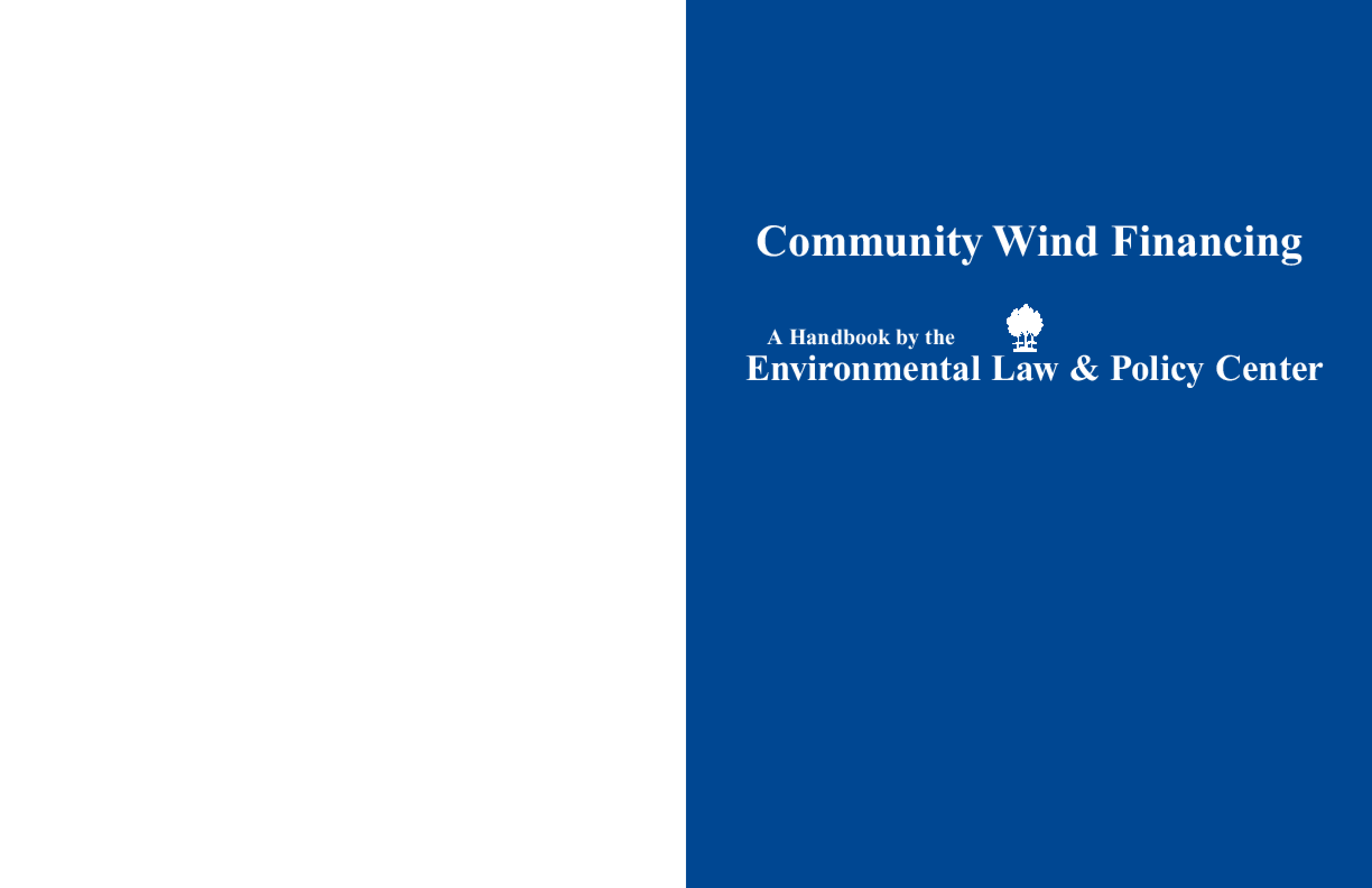 Community Wind Financing Handbook