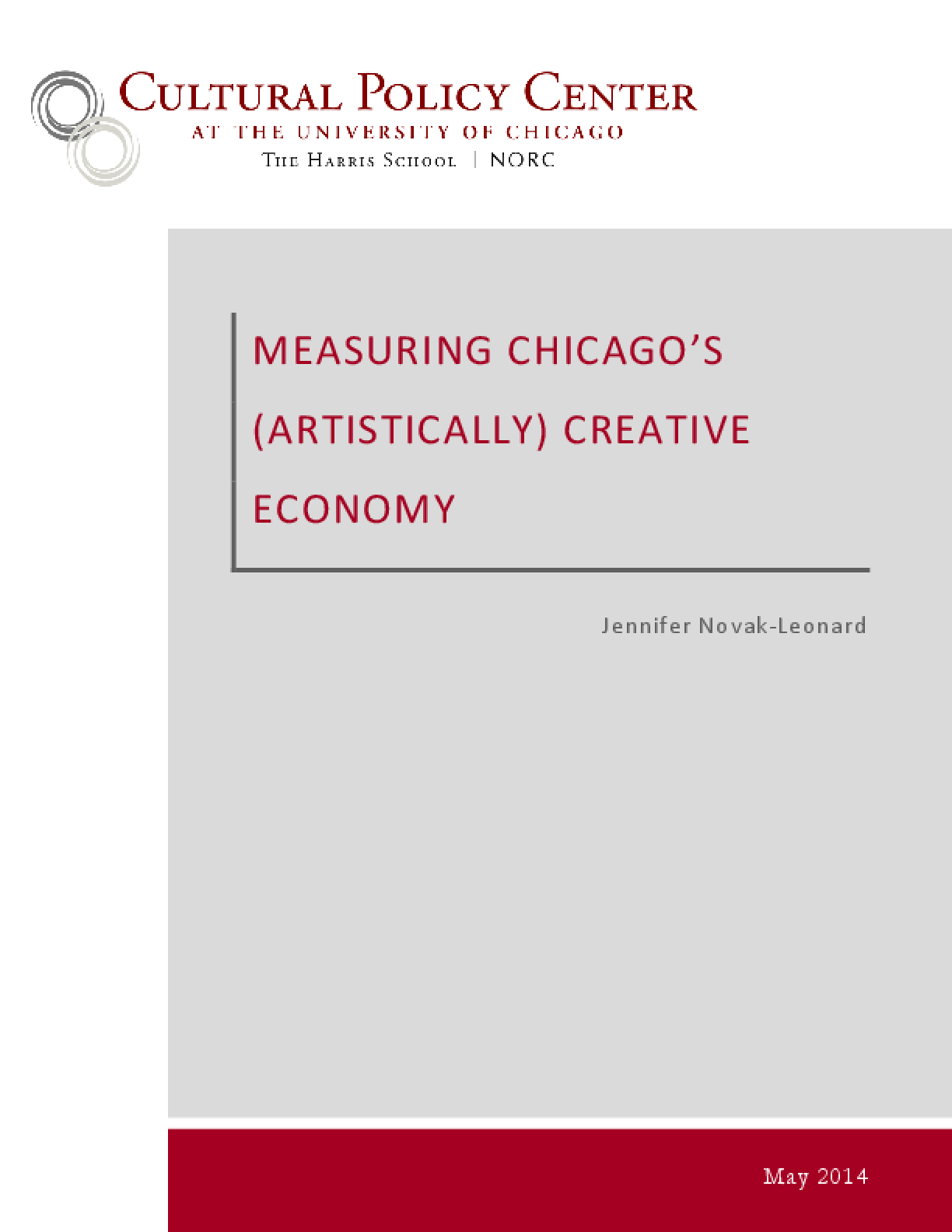 Measuring Chicago's (Artistically) Creative Economy