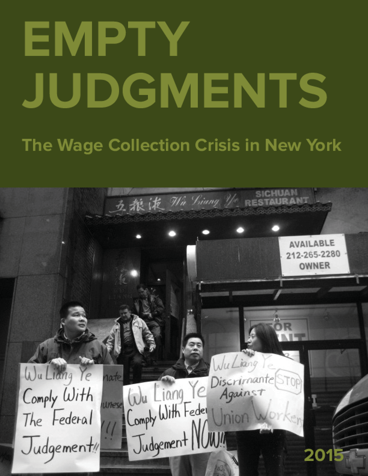 Empty Judgments: The Wage Collection Crisis in New York