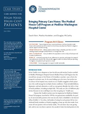 Bringing Primary Care Home: The Medical House Call Program at MedStar Washington Hospital Center