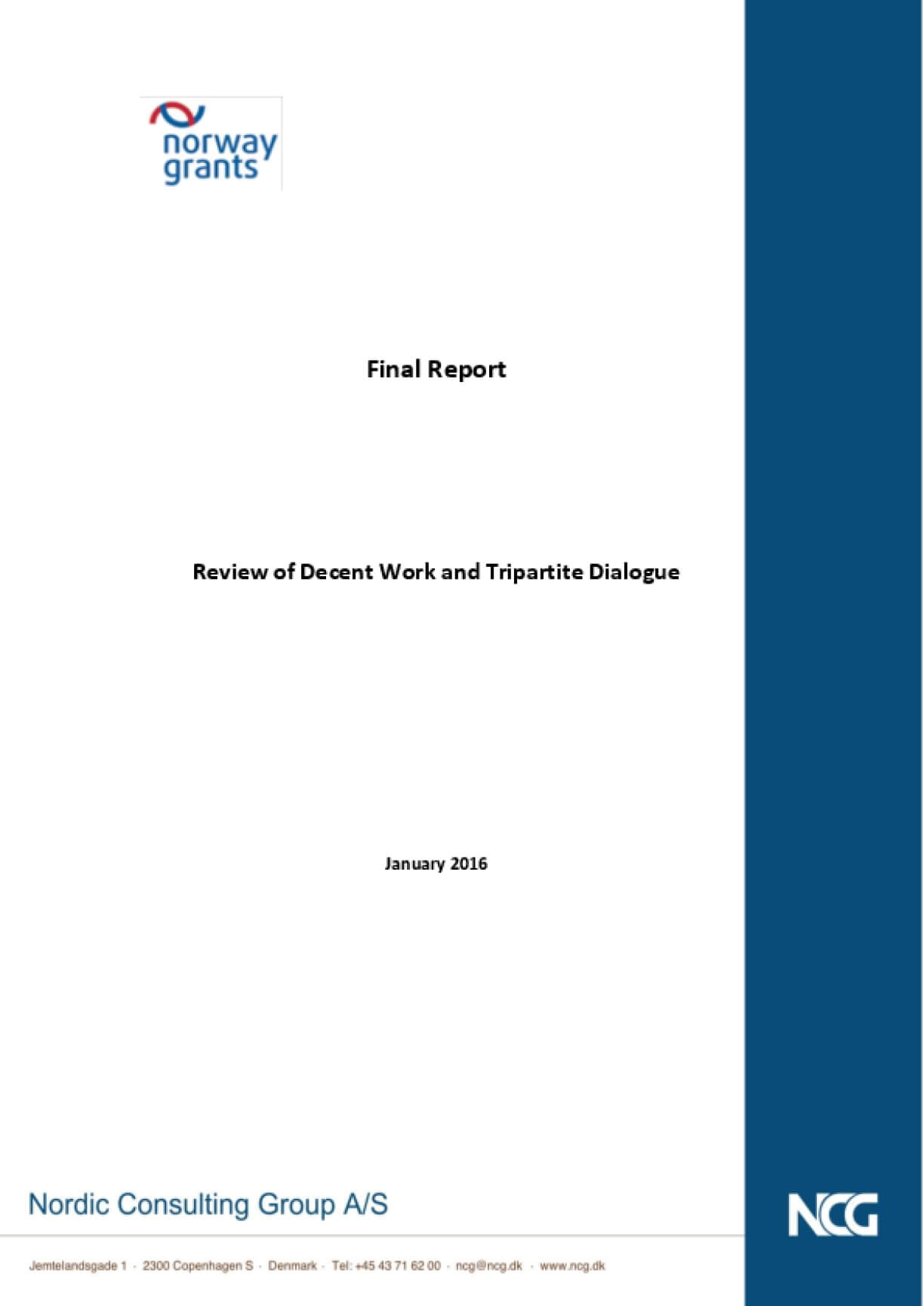 Final Report: Review of Decent Work and Tripartite Dialogue