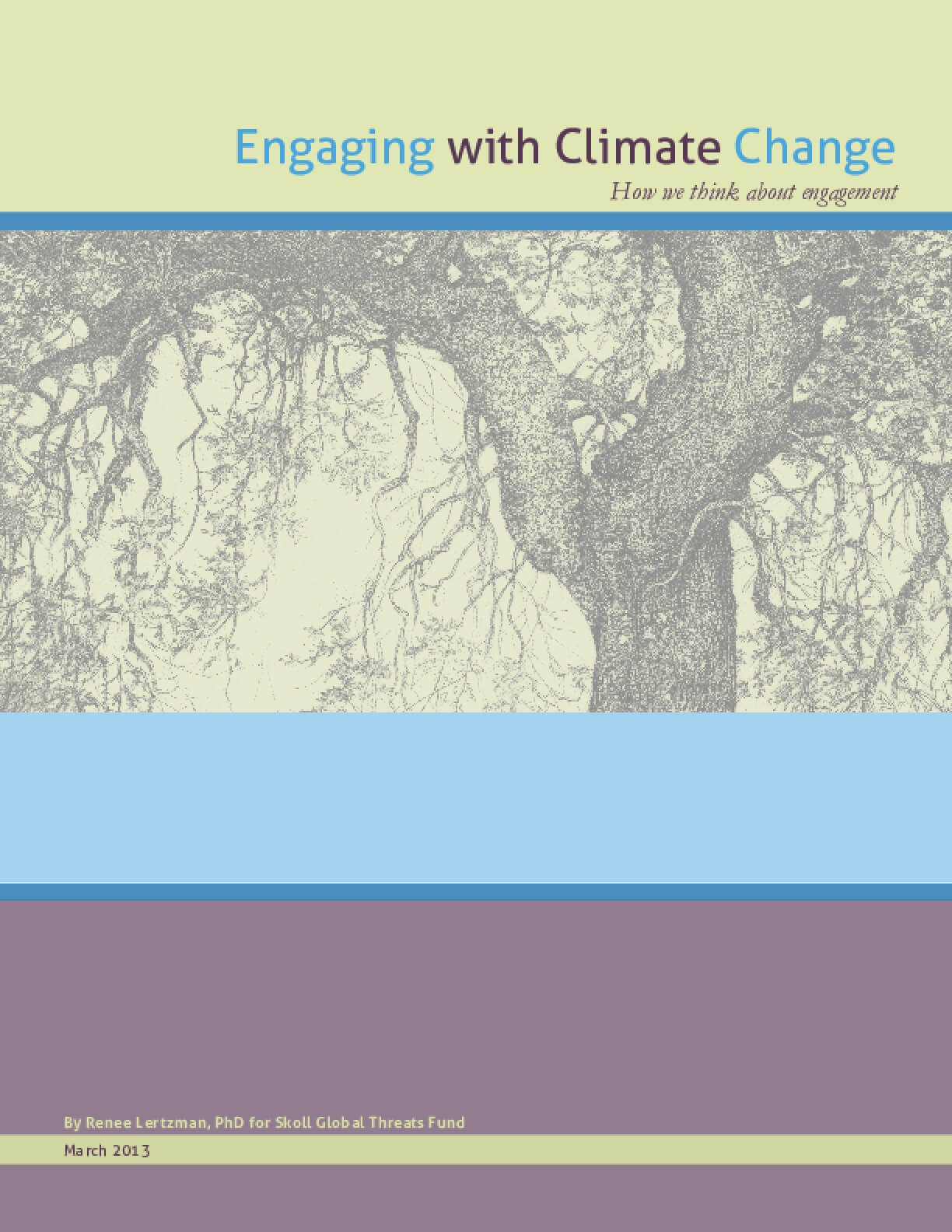 Engaging with Climate Change: How We Think about Engagement