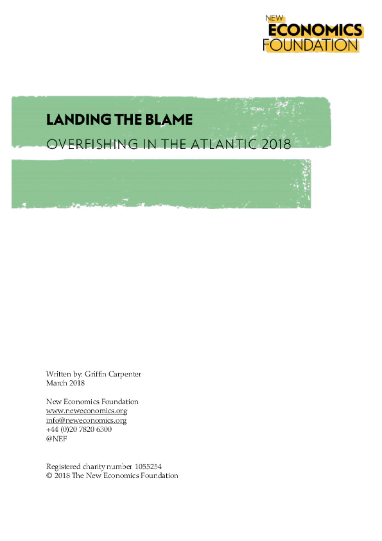 Landing the Blame: Overfishing in the Atlantic 2018