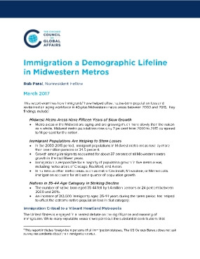 Immigration: A Demographic Lifeline in Midwetern Metros