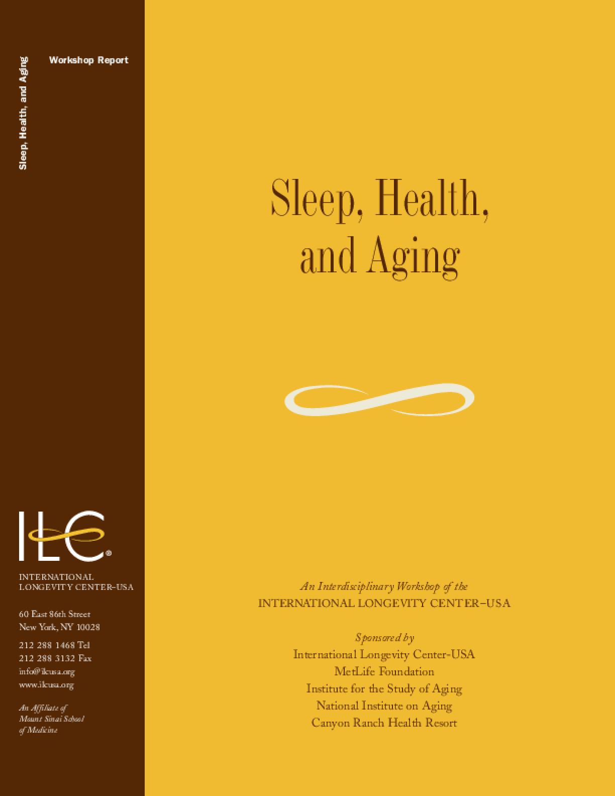 Sleep, Health, and Aging