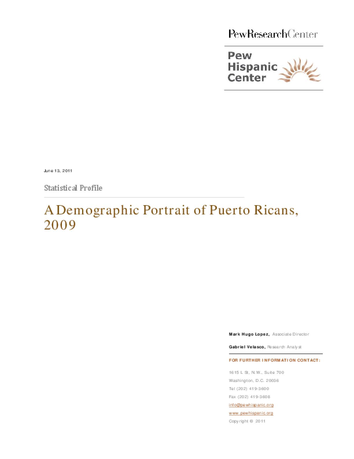 A Demographic Portrait of Hispanics in Puerto Rico