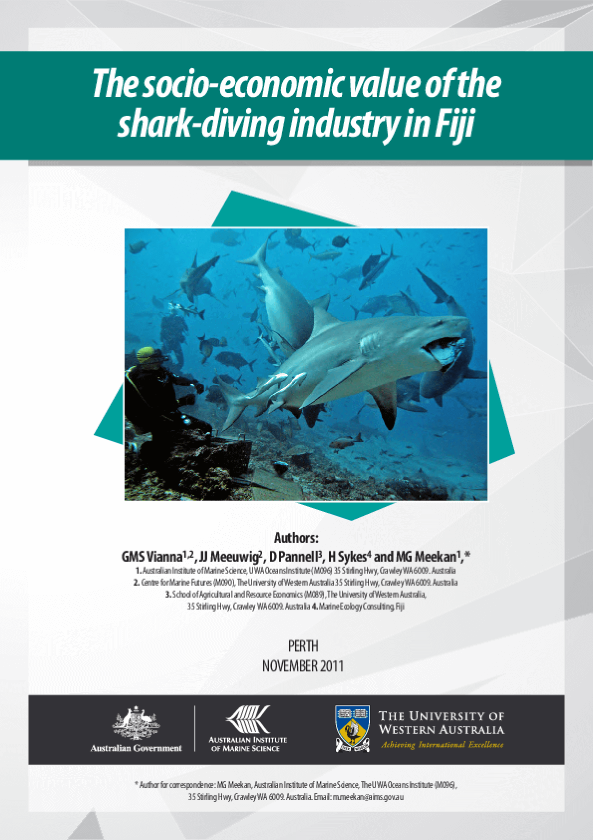 The Socio-Economic Value of the Shark-Diving Industry in Fiji