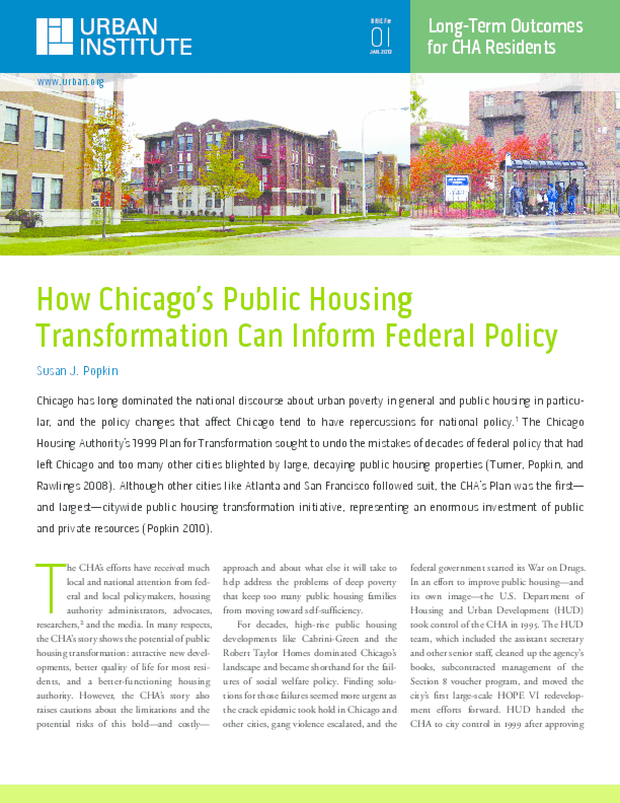 How Chicago's Public Housing Transformation Can Inform Federal Policy