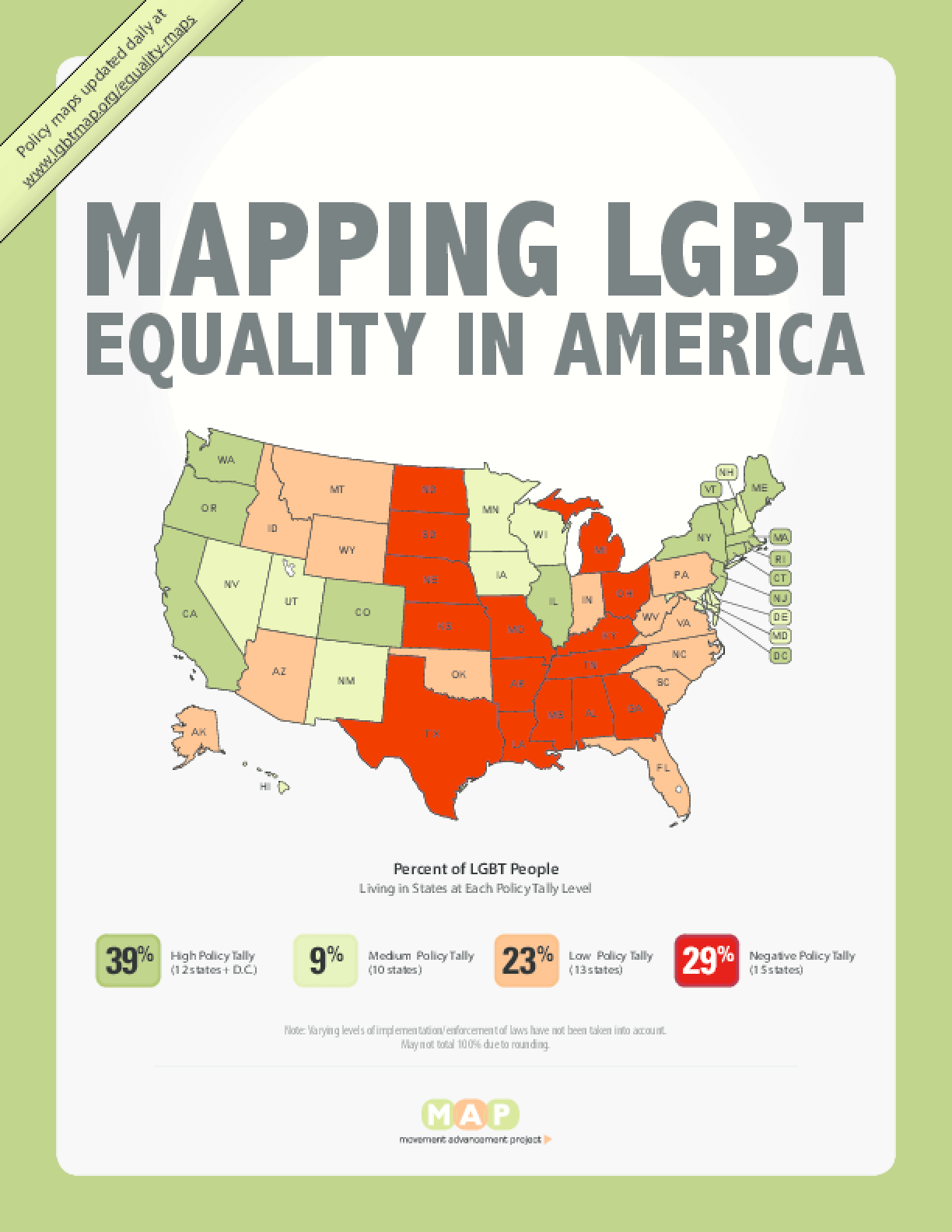 Mapping LGBT Equality In America