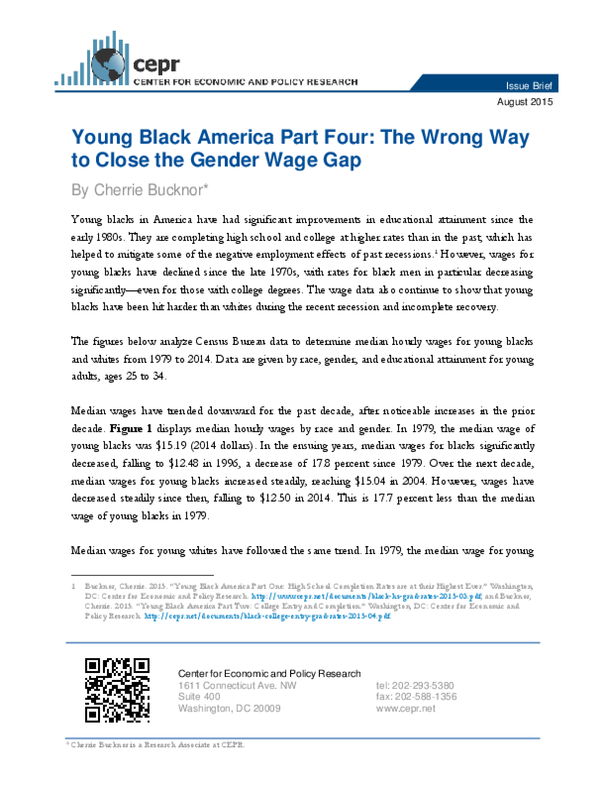 Young Black America Part Four: The Wrong Way to Close the Gender Wage Gap