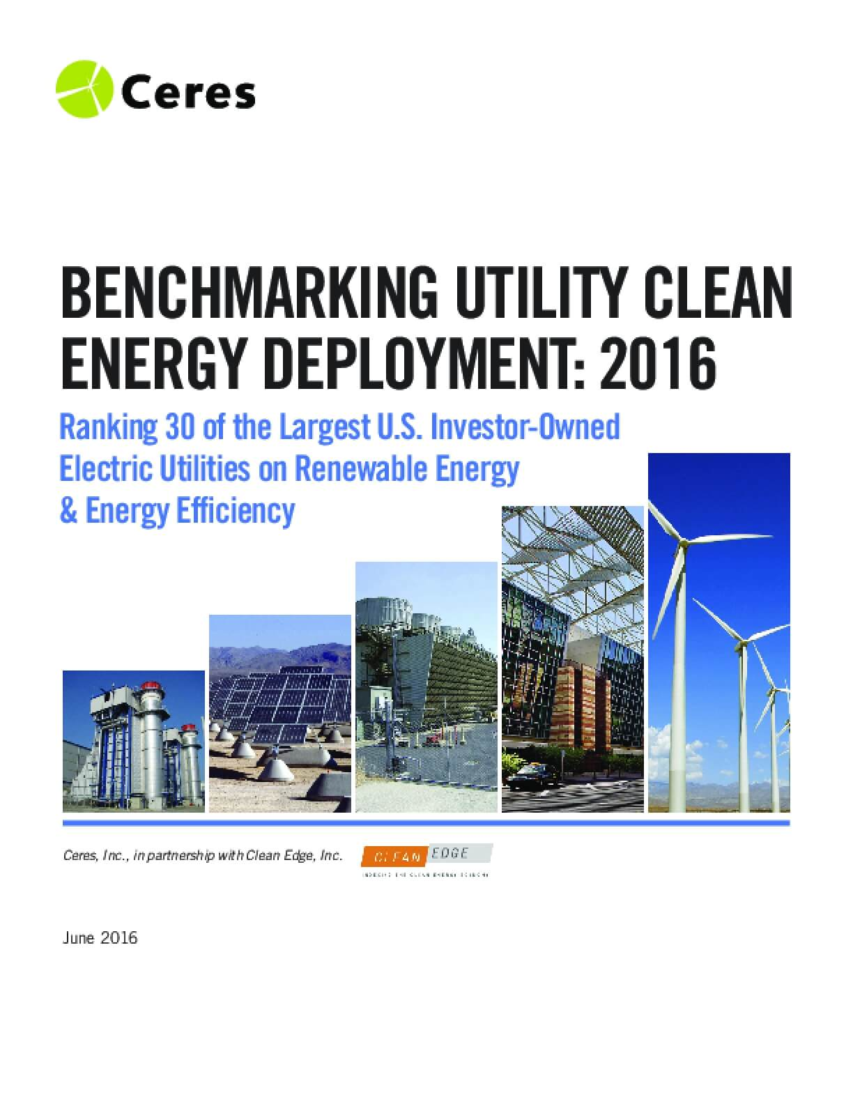 Benchmarking Utility Clean Energy Deployment: 2016