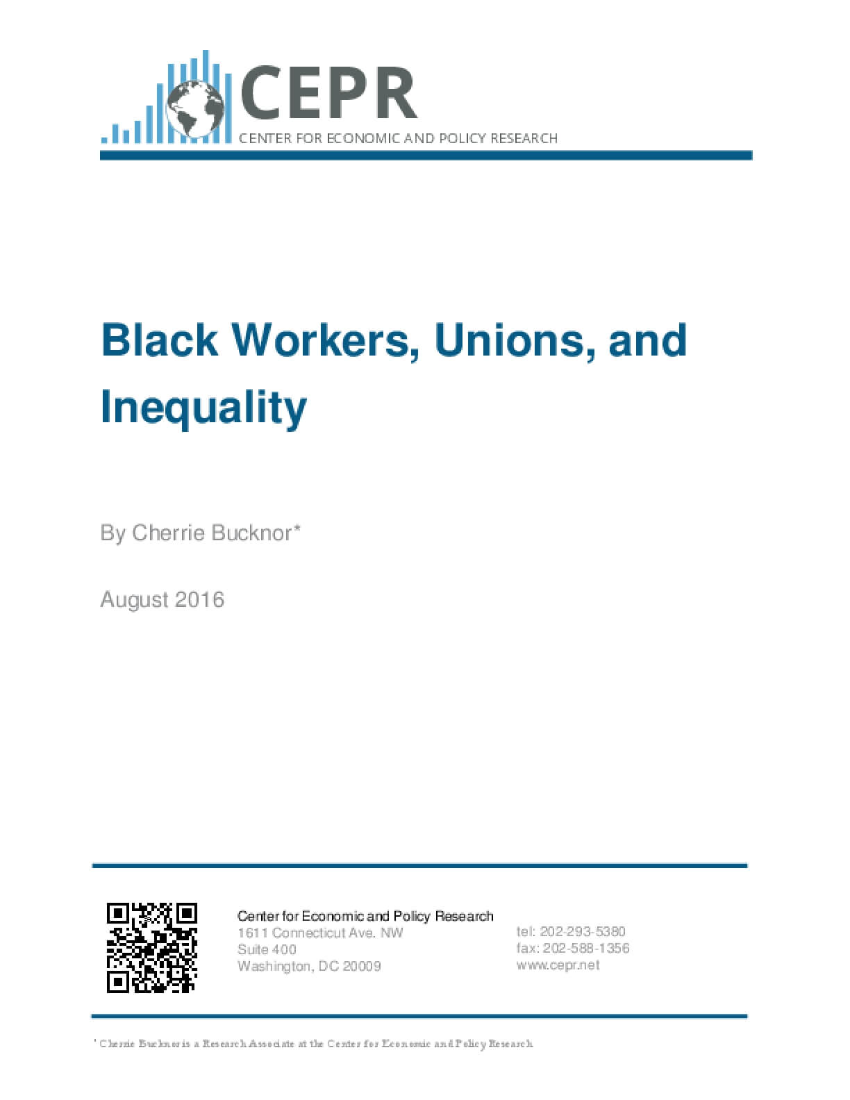 Black Workers, Unions, and Inequality