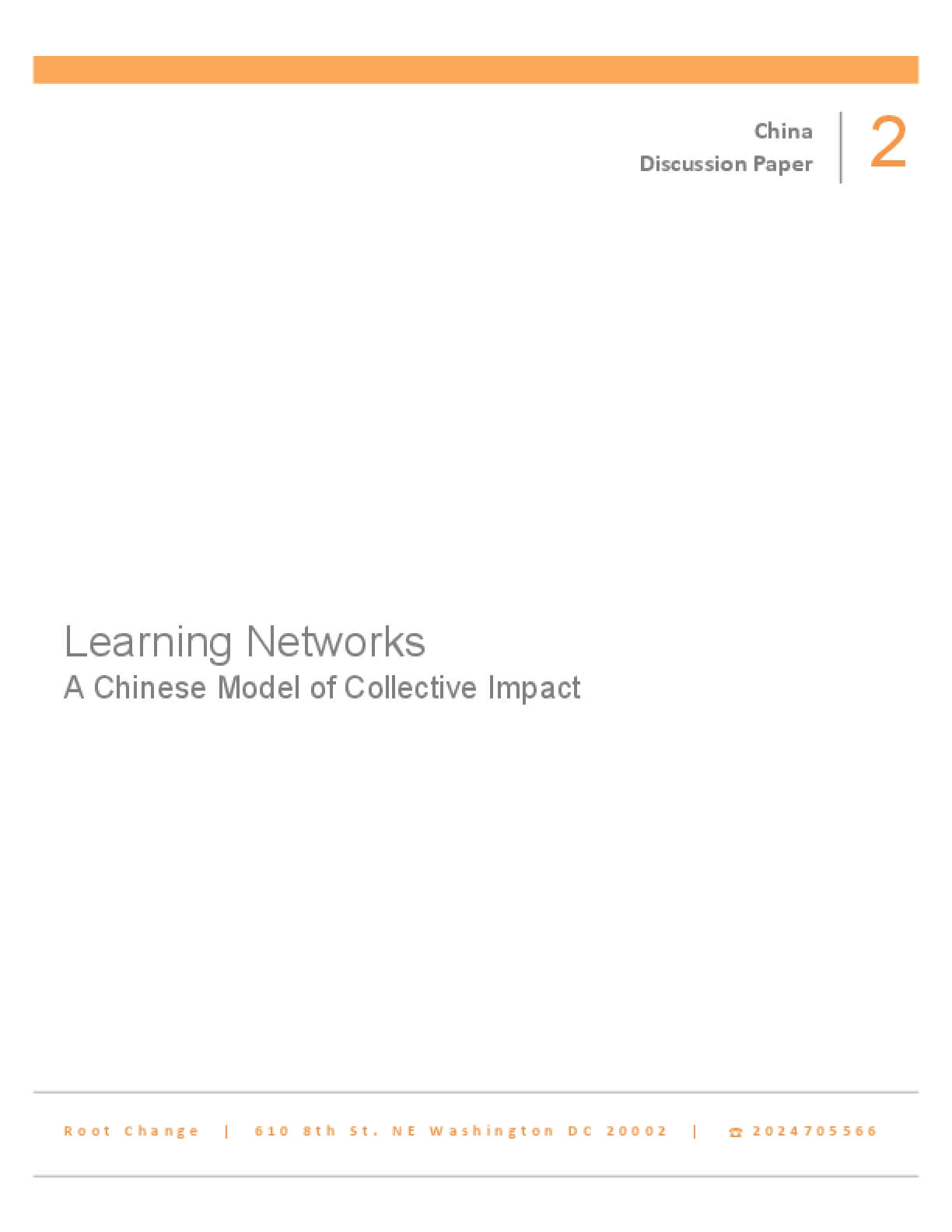Learning Networks: A Chinese Model of Collective Impact