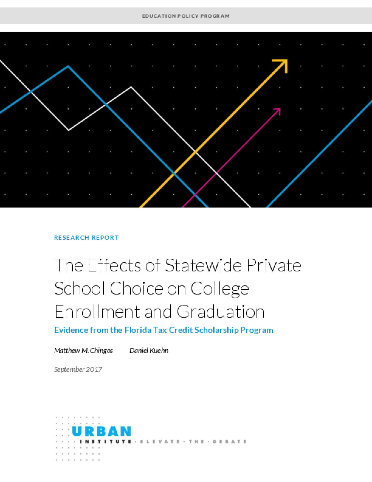 The Effects of Statewide Private School Choice on College Enrollment and Graduation