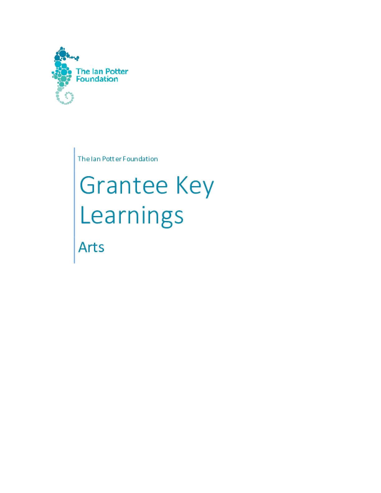 The Ian Potter Foundation Arts Grantee Learnings