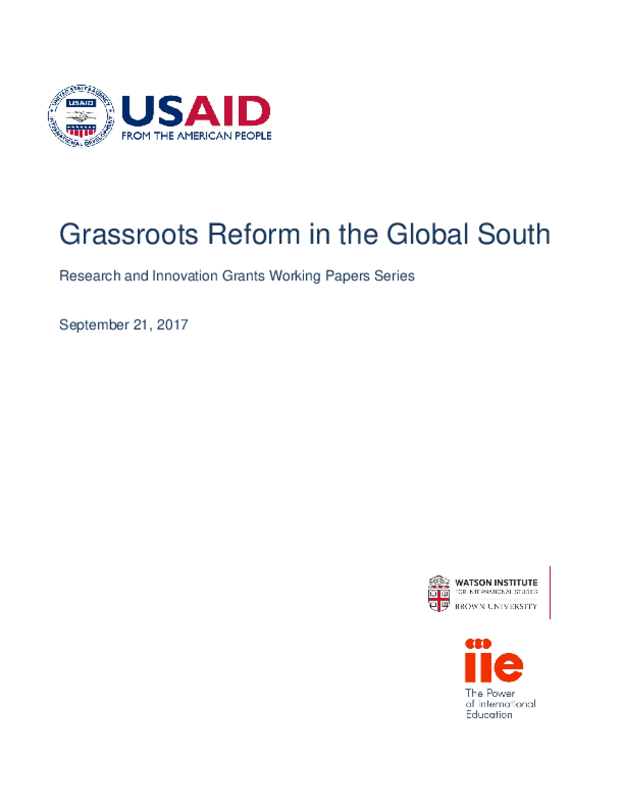 Grassroots Reform in the Global South (2017)