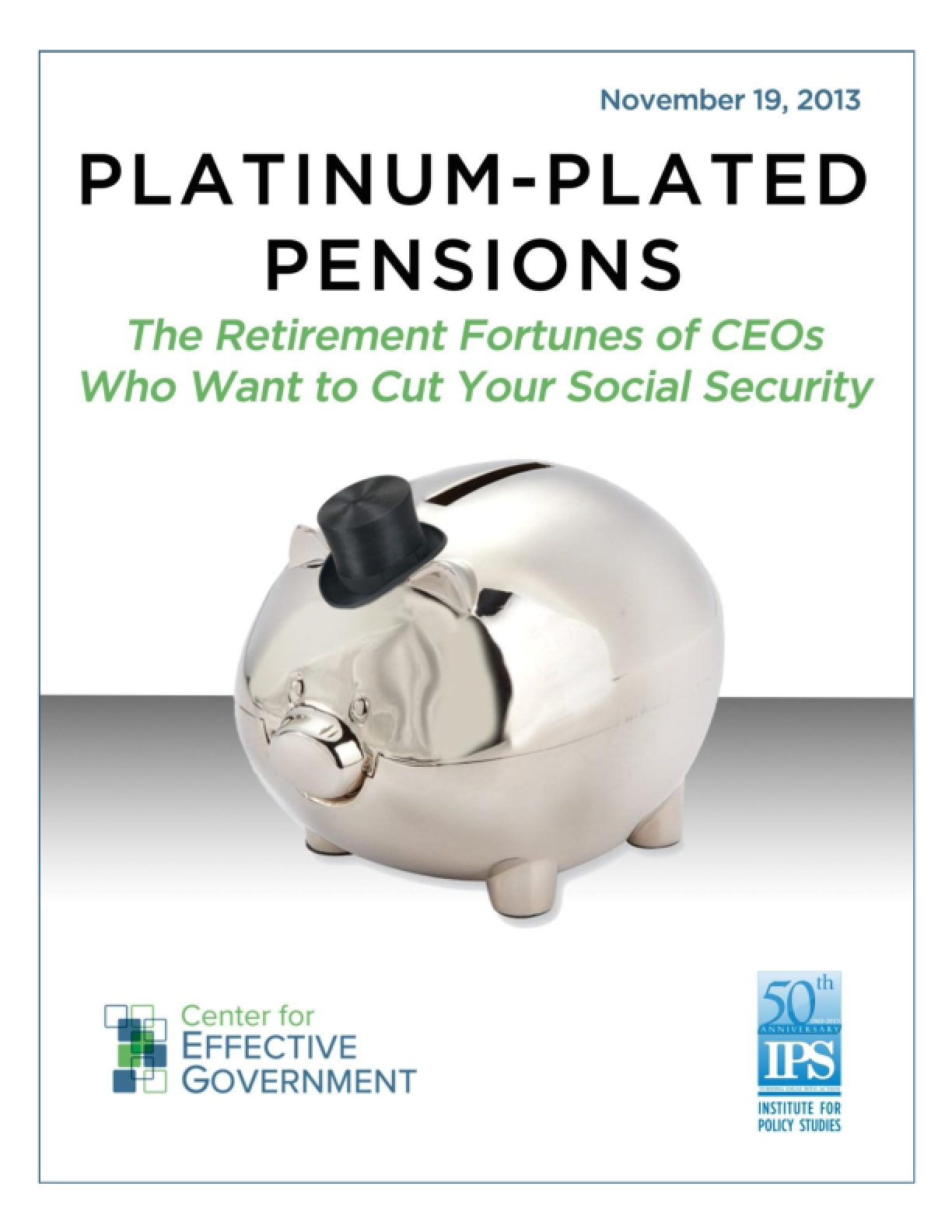 Platinum-Plated Pensions: The Retirement Fortunes of CEOs Who Want to Cut Your Social Security