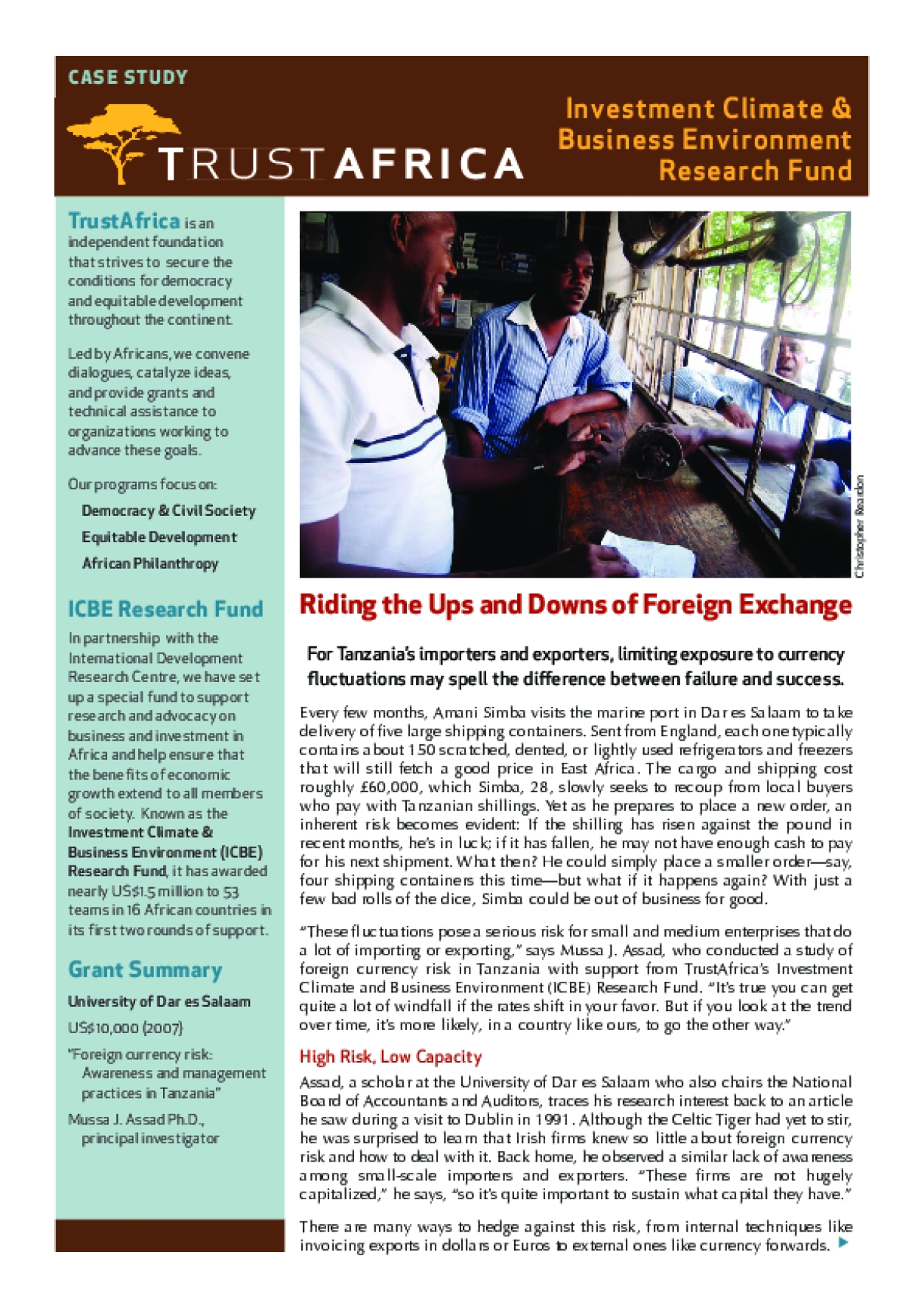Riding the Ups and Downs of Foreign Exchange
