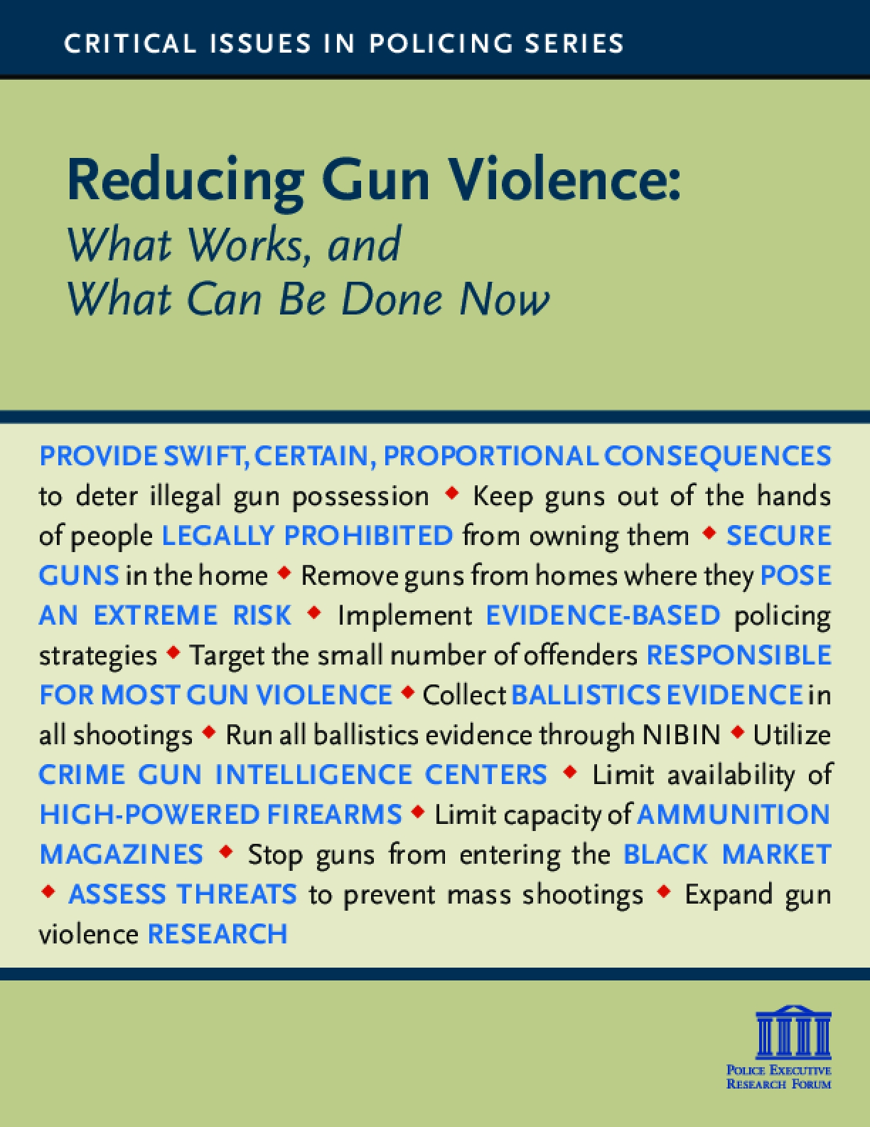 Reducing Gun Violence: What Works, and What Can Be Done Now