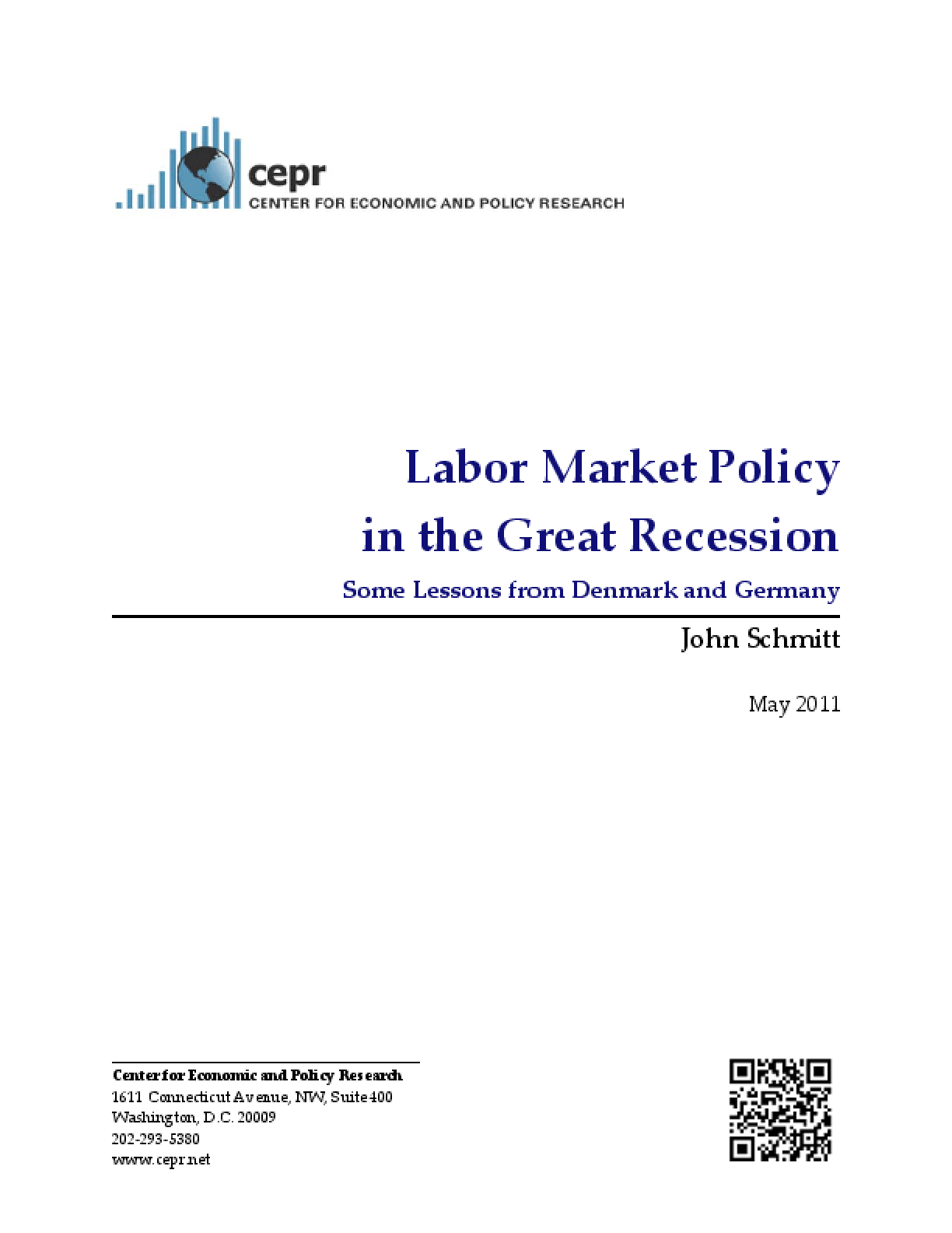 Labor Market Policy in the Great Recession: Some Lessons from Denmark and Germany
